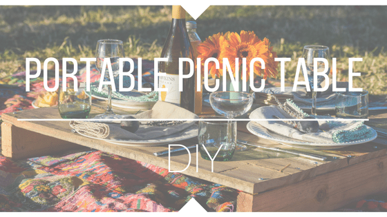 Portable Picnicking Table DIY