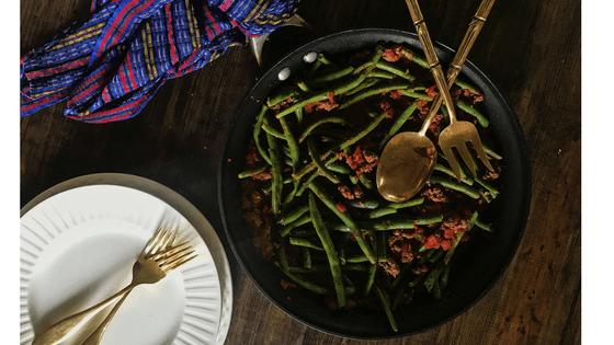 Etli Taze Fasulye–Turkish Green Bean Stew