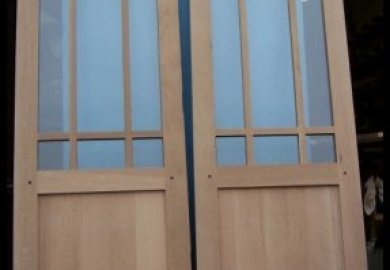 Interior French Doors Transom
