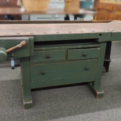 Kitchen Workbench Country Tables Antique Green Island Heart Of Ohio Center