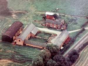 Heart of the Shires historic site from the air