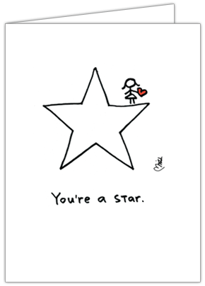 Youre A Star Greeting Card By Hearts And All Unique