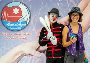 Nos jeunes clowns et jongleurs bénévoles pour animer nos événements