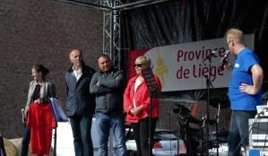 En présence de la ministre Simonis et des échevins de la Commune de Flémalle