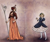 Queen of Hearts and Alice (?) Fancy Dress