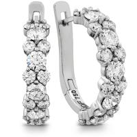 Gracious Diamond Hoop Earrings