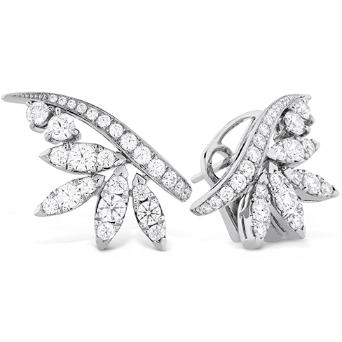 White Kites Crest Earrings