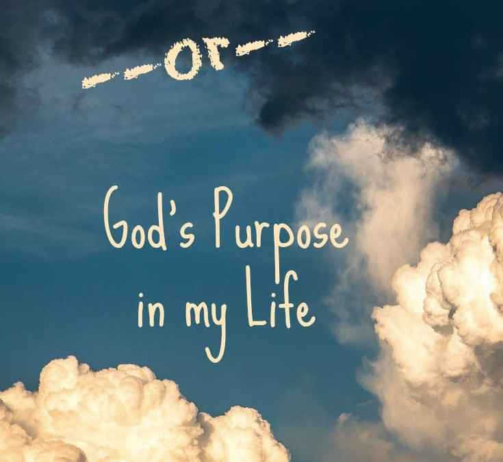 Disease, Conflict and Anger – God's Purpose in my Life