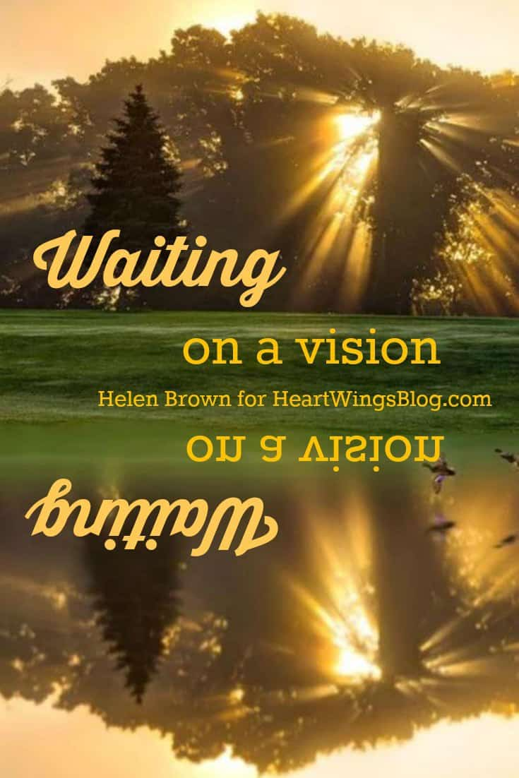 Helen Brown shares about waiting for a vision at HeartWingsBlog