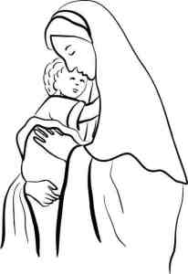 Mary and her anointed child