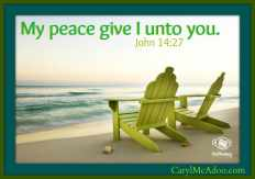 Peace give I to thee