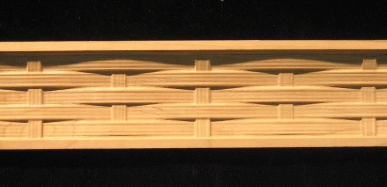 Frieze  Basket Weave Decorative Carved Wood Molding