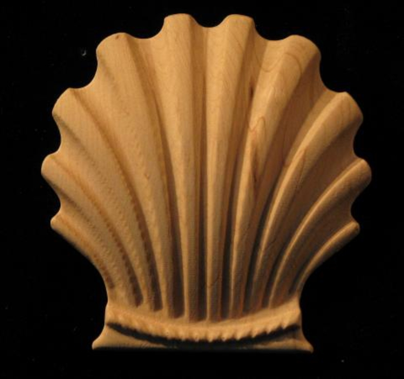 Onlay  Classic Shell Carved Wood