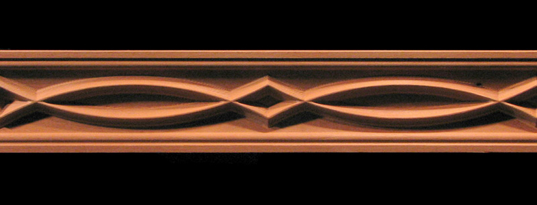 Frieze Arches and Points Decorative Carved Wood Moulding