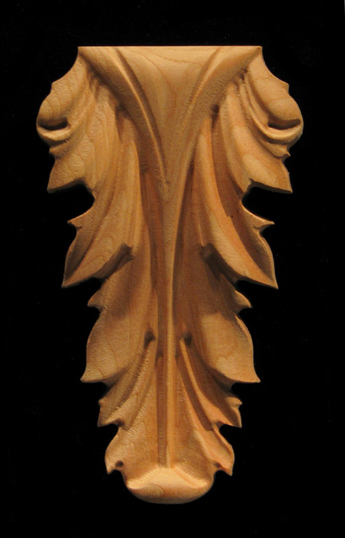 Onlay  Acanthus Leaf Carved Wood