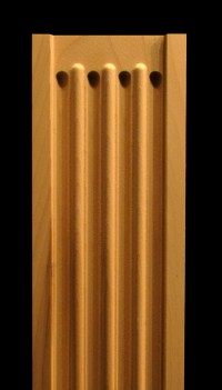 Pilaster - Fluted with Roundover Wood Carved