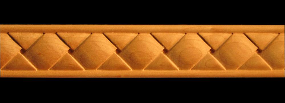 Frieze Square Basket Weave Decorative Carved Wood Molding