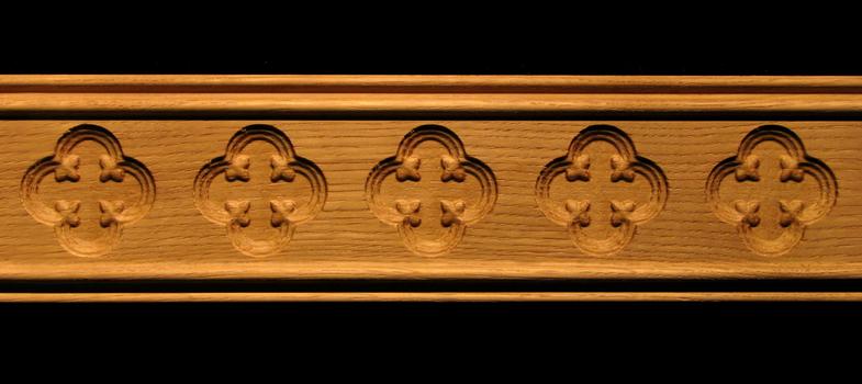 Molding  Gothic Quatrefoil Decorative Carved Wood Molding
