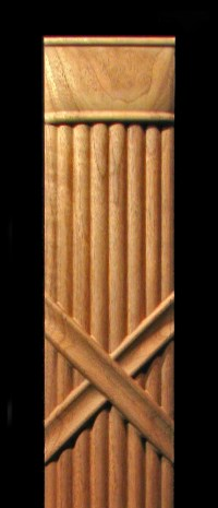Pilaster - Fluted Partial Round Wood Carved