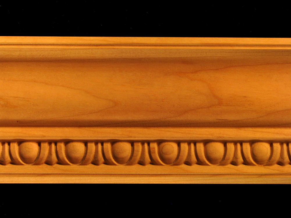 Crown Molding  Egg and Dart 45 Wood Carved