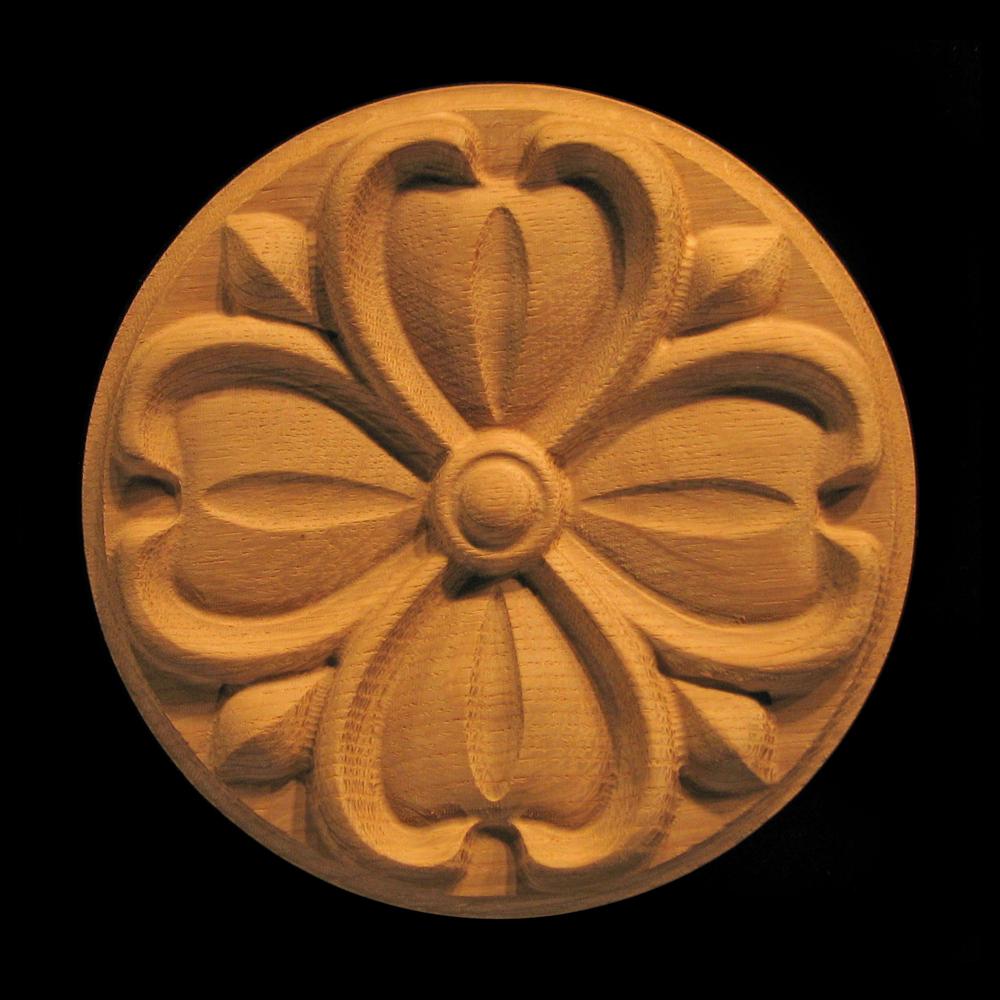 Rosette  Dogwood Flower Carved Wood