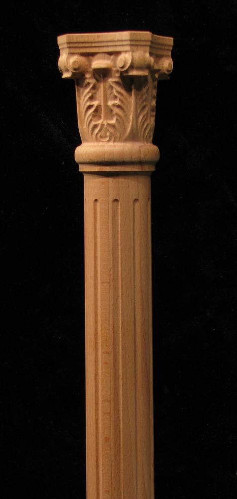 Full Round Acanthus column w fluting