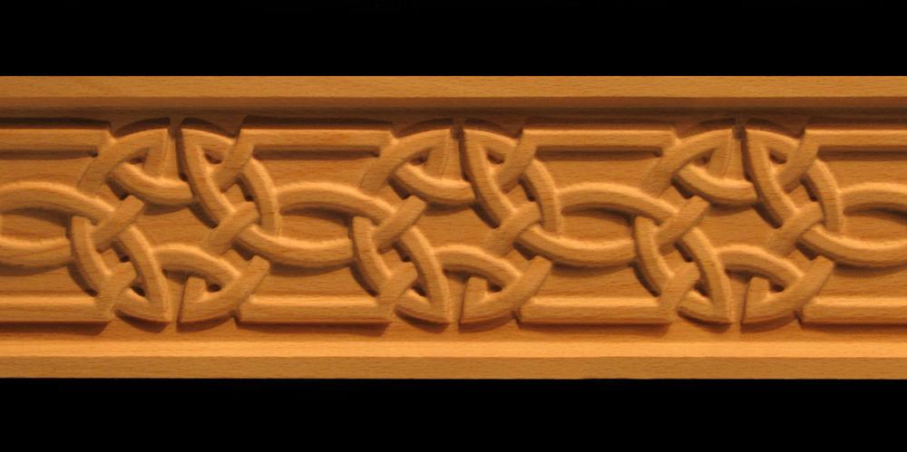 Frieze Celtic Knot Acanthus Leaf Decorative Carved Wood