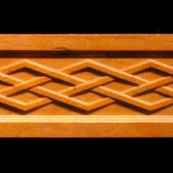 Kitchen Islands Designs Pantry Cabinets Frieze - Celtic Diamond Weave Decorative Carved Wood Molding