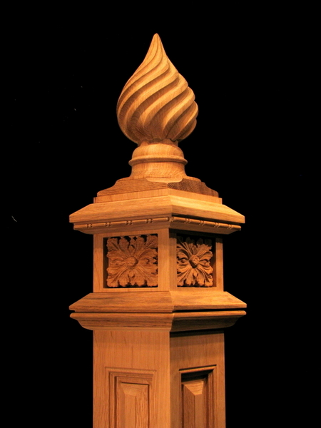 Spiral Finial Newel Post  Columns Legs Newel Posts and