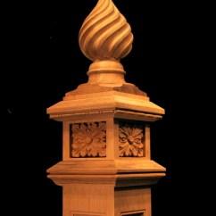 Kitchen Art Decor Free Standing Shelves Spiral Finial Newel Post | Columns And Posts