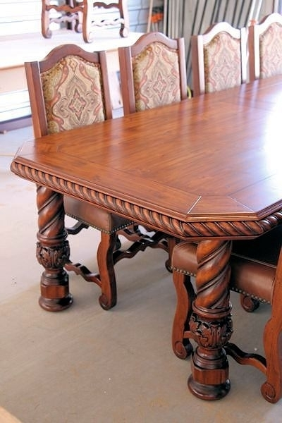 Table Leg Spiral With Acanthus Foot Columns Legs