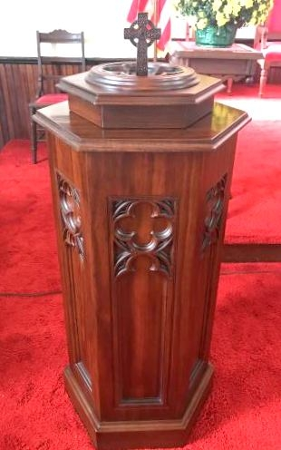 Baptismal Font with Gothic Features  Church and Liturgical Themes