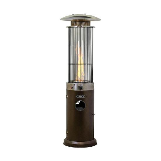 santini eco flame gas patio heater stainless steel black