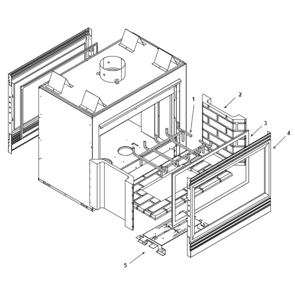 Heat & Glo ST-42FL/DSI See-thru Gas Fireplace Parts