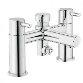 grohe concetto bath shower mixer tap pillar mounted chrome