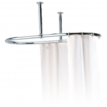 west luxury oval shower curtain rail ceiling stays 1091mm length