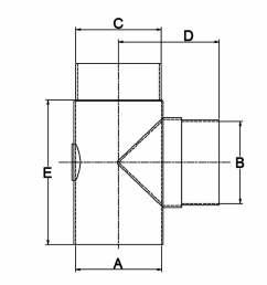 90 degree tee with cap diagram [ 1320 x 1020 Pixel ]