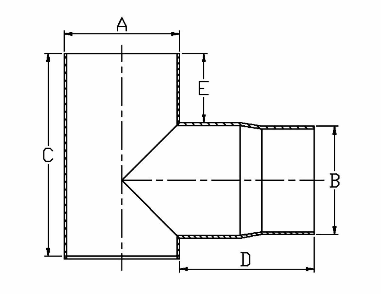 hight resolution of 90 degree tee with soot trap diagram