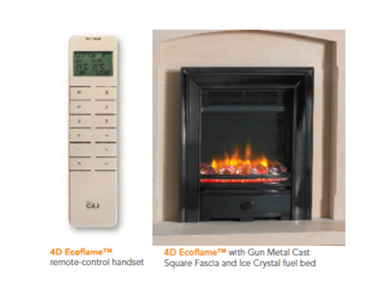 4D Ecoflame Electric Fire  Heat Design
