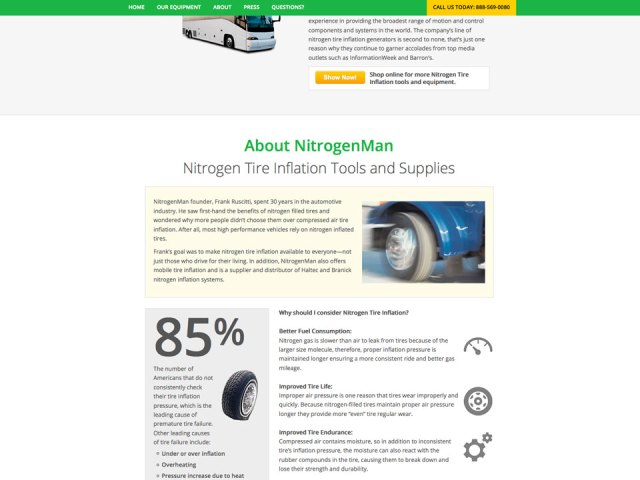 Nitrogen Man website design