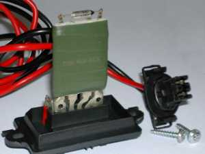 Replace thermal fuse to fix a Heater Blower Resistor