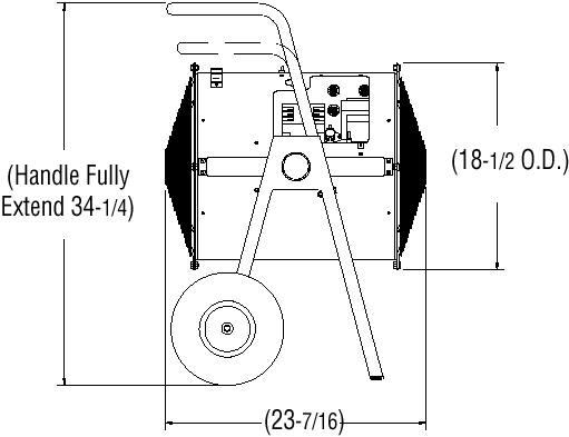 Chromalox Dragon Portable DRA Electric Comfort Heater