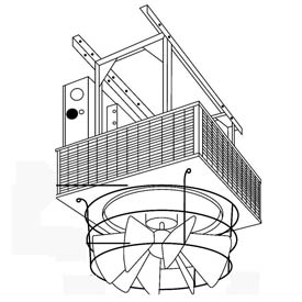 TPI Radial Louvered Cone Diffuser For Downflow Unit