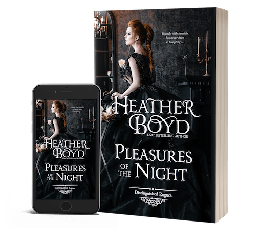 book cover for pleasures of the night