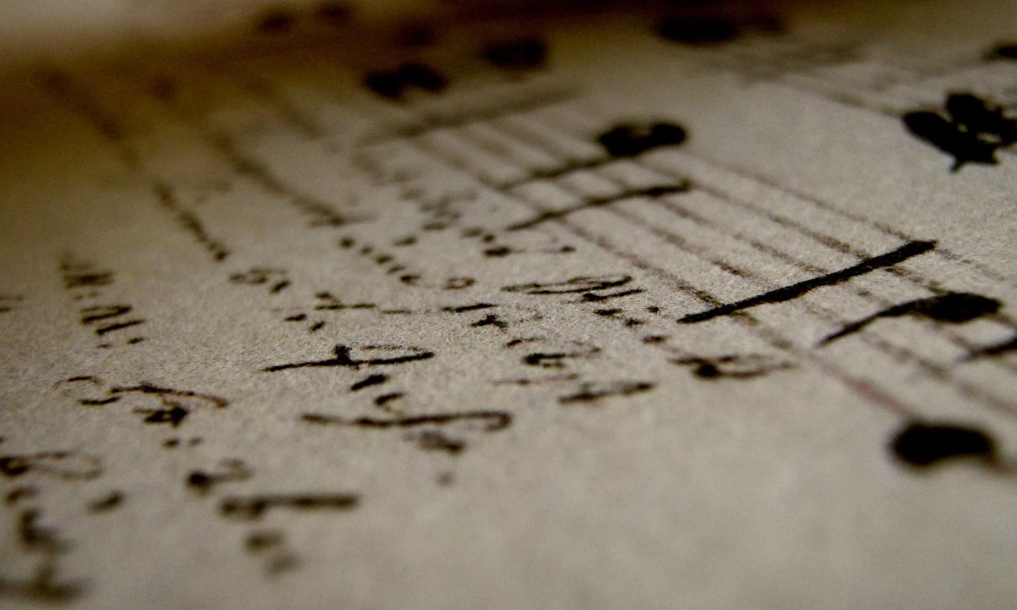 Handwritten music manuscript