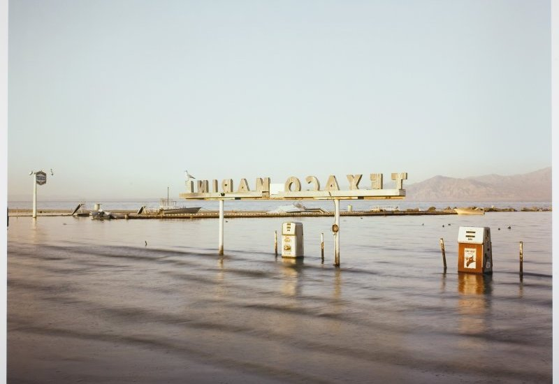 Flooded Marina (Gas Pumps), Salton Sea, California RICHARD MISRACH, 1983© RICHARD MISRACH