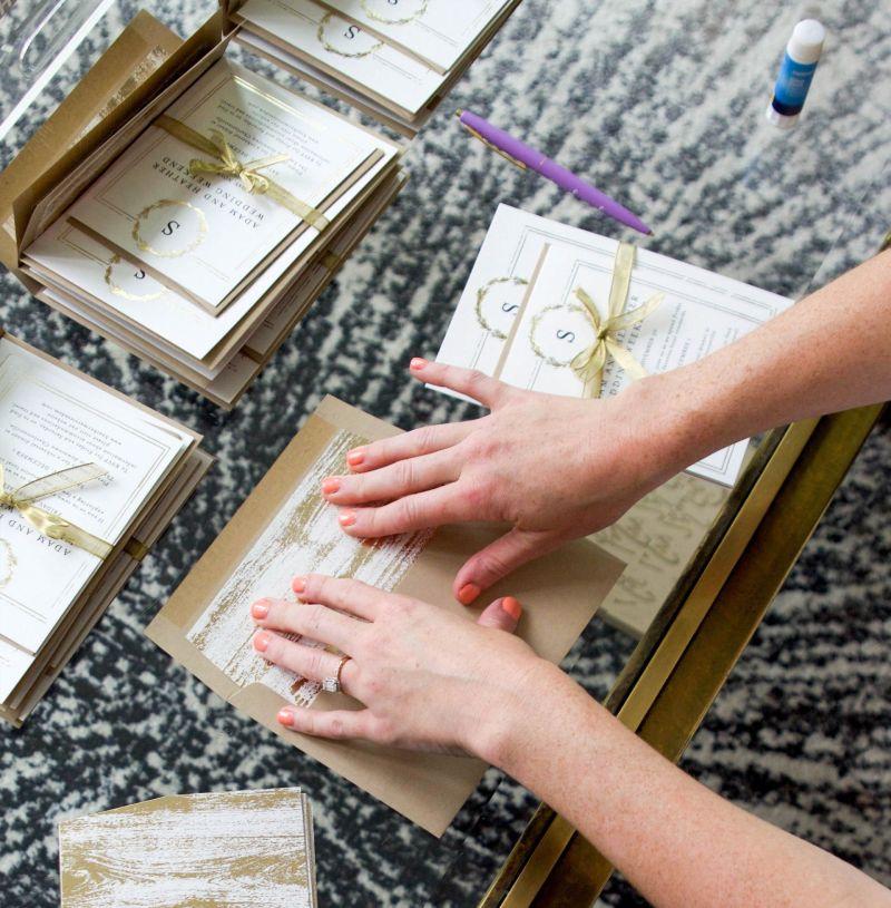 How I DIY'ed My Minted Wedding Invitations