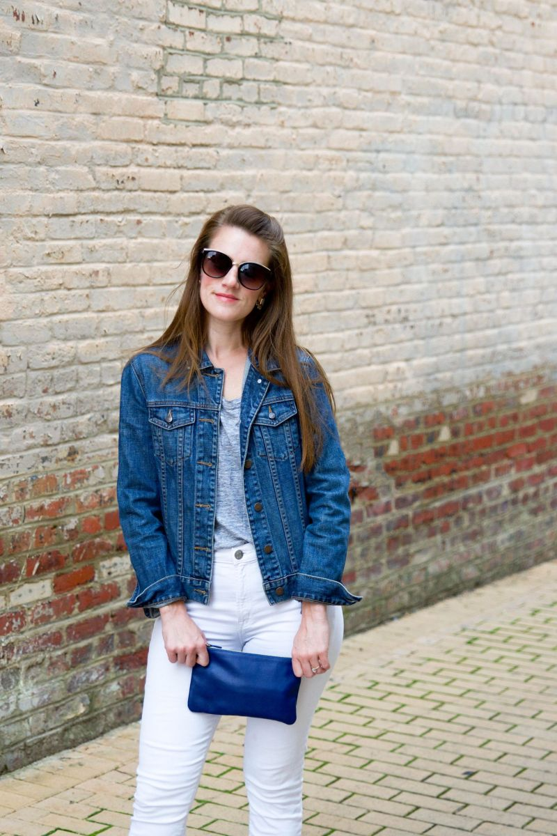 How to Wear White Jeans After Labor Day (Add Some Blue Suede Shoes!)