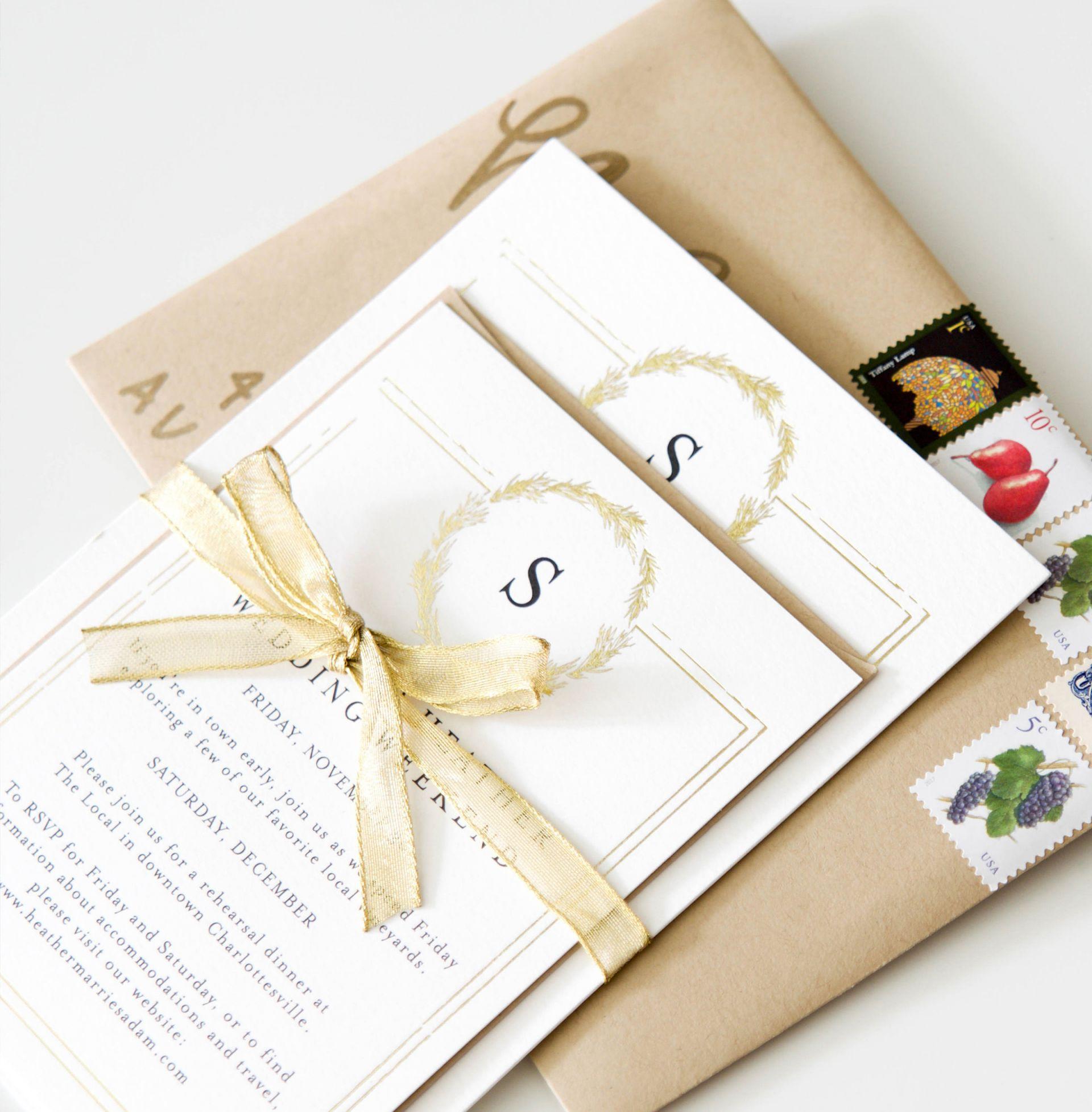 Wedding 101 A Guide To Sending Wedding Invitations Heather Bien