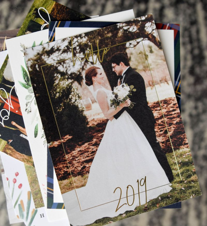 Our Newlywed Holiday Cards: Hello 2019!